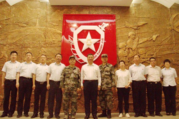 中国银行内蒙古分行拥军慰问团慰问陆军朱日和训练基地部队官兵