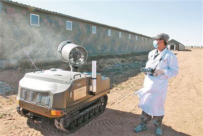 灭虫用上无人机洗消有了机器人