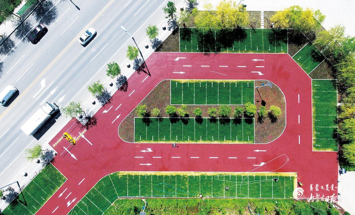 呼和浩特市首个生态停车场即将投入使用